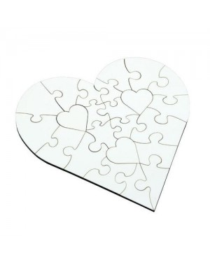 Cardboard Sublimation Heart Jigsaw Puzzle