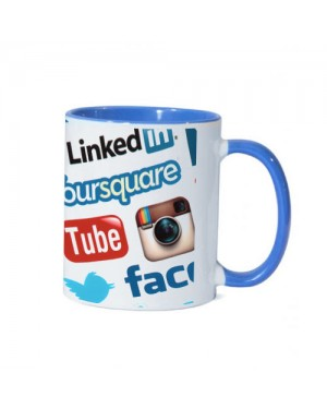 Blue sublimation 11oz Mug