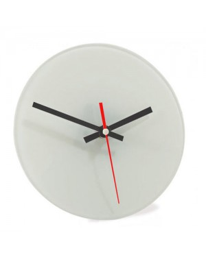 20cm Glass Photo Clock for Sublimation Printing