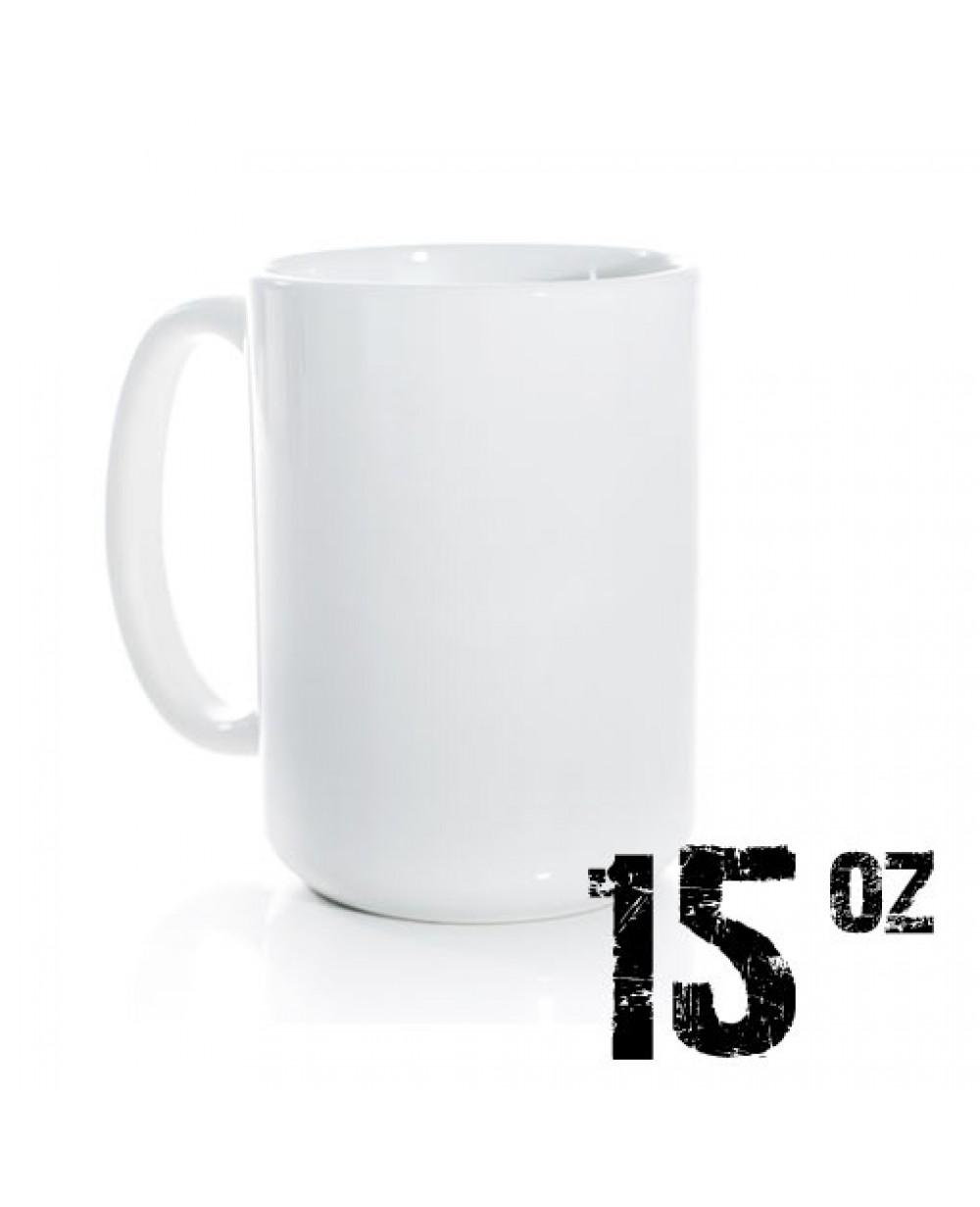 15oz Sublimation White Mugs - Dishwasher Safe 36 Blanks
