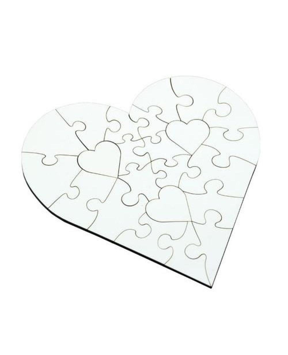 Mdf Sublimation Heart Shape Jigsaw Puzzle