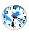 Clock - Glass - Round - 30cm Wall Clock
