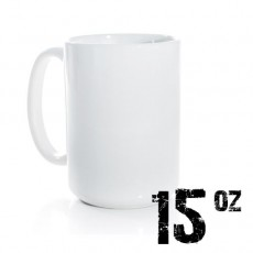 15oz White Photo Mug Sublimation