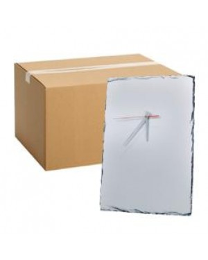 FULL CARTON - 6 x Large Clock Photo Slates (40cm x 25cm) for Sublimation