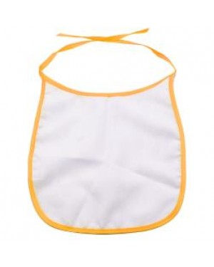 Baby Bib - 100% Polyester - Orange