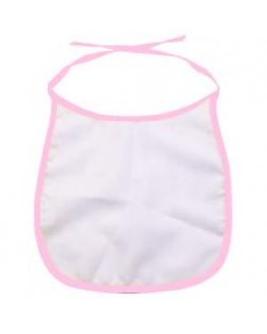 Baby Bib - 100% Polyester - Pink