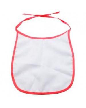 Baby Bib - 100% Polyester - Red