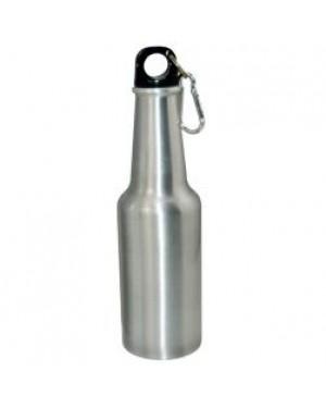 Water Bottles - Beer Bottle - Silver - 400ml