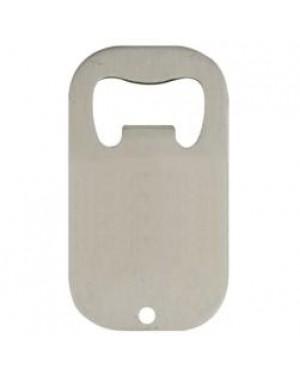 Bottle Opener - Steel - Curved Rectangle - 6cm x 4cm