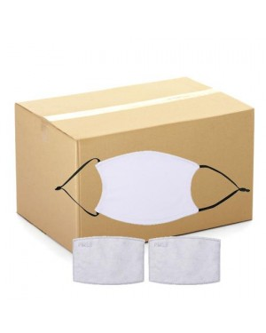 BULK CARTON (500 pieces) - Face Coverings - BLACK STRAP - Adult Size with 2 x PM2.5 Filters