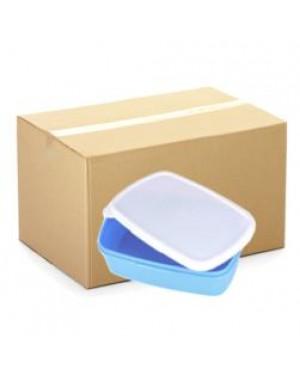 Lunchbox - CARTON (48 pcs) - Plastic - Small - Blue