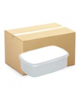 Lunchbox - CARTON (48 pcs) - Plastic - Small - White