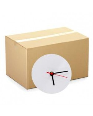 MDF Clock - CARTON (25 pcs) - Round - 20cm Wall Cloc