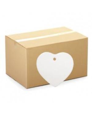 Ornaments - CARTON (200 pcs) - Ceramic Hanging Ornament - Heart