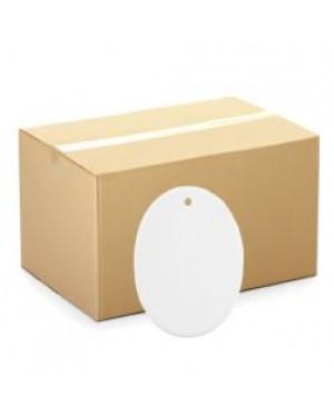 Ornaments - CARTON (200 pcs) - Ceramic Hanging Ornament - Oval