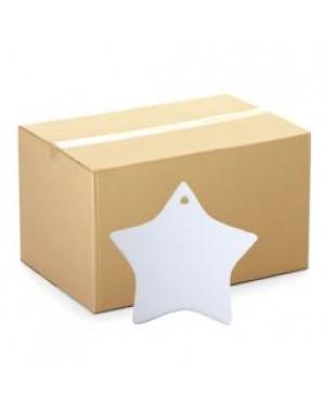 Ornaments - CARTON (200 pcs) - Ceramic Hanging Ornament -Star
