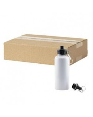 FULL CARTON - 60 x Aluminium 400ml Sublimation Water Bottles - White