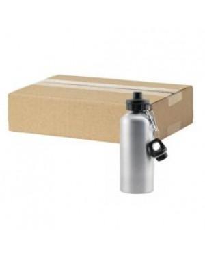 FULL CARTON - 60 x Aluminium 500ml Sublimation Water Bottles - Silver