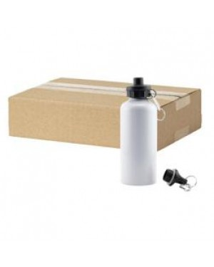 FULL CARTON - 60 x Aluminium 500ml Sublimation Water Bottles - White