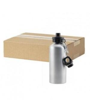 FULL CARTON - 60 x Aluminium 600ml Sublimation Water Bottles - Silver