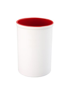 Pen Pots - Ceramic - 15oz Pencil Holder - Red