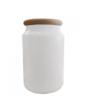 Cookie Jar - Ceramic with Wooden Lid
