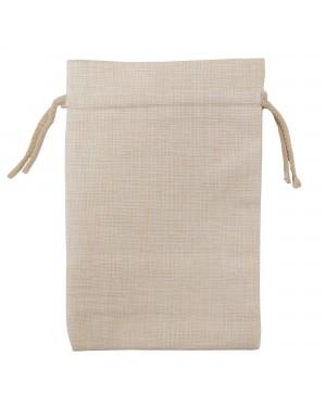 Bags - DOUBLE DRAWSTRING - Thick Linen - 12cm x 15cm