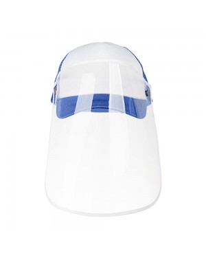 Apparel - Cap with Face Shield - ADULT - Blue