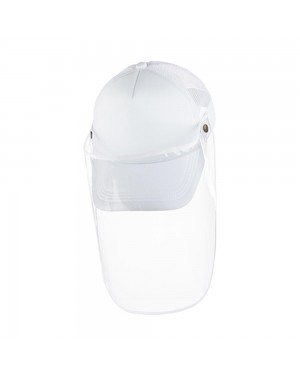 Apparel - Cap with Face Shield - ADULT - Full White