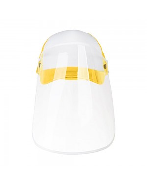 Apparel - Cap with Face Shield - ADULT - Yellow