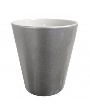 SILVER - 12oz Ceramic Flowerpot
