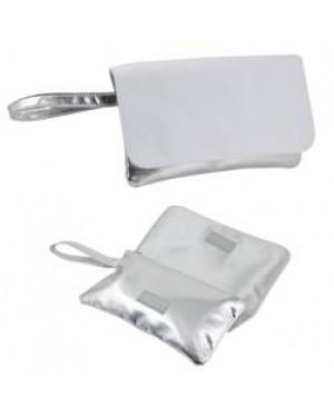 Bag - Handbag with Strap - Silver