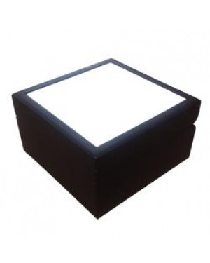 Jewellery Box with Ceramic Tile - Matt Brown - 6in x 6in