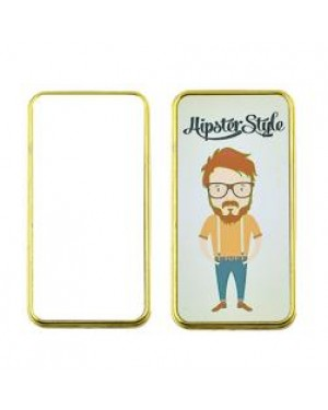 Lighter - USB Chargeable Electric Lighter with 2 Printable Inserts - Gold