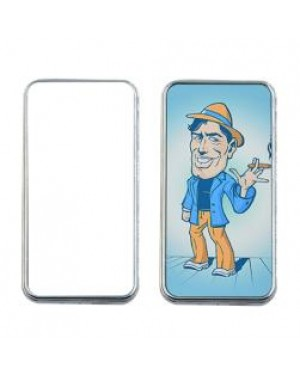 Lighter - USB Chargeable Electric Lighter with 2 Printable Inserts - Silver