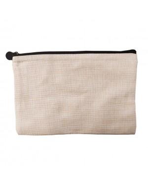 Zip Up Bag - Linen - 23cm x 15cm
