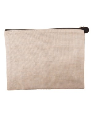 Zip Up Bag - Linen - 21.5cm x 16cm
