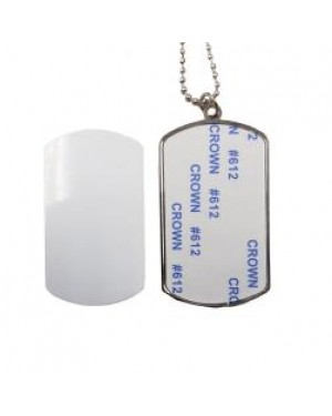 Dog Tag - Large Oblong Pendant with Insert