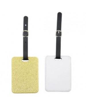 Luggage Tag - PU Glitter - Gold