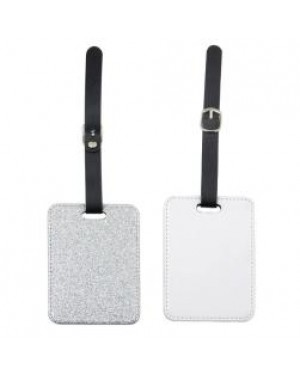 Luggage Tag - PU Glitter - Silver