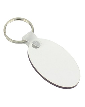 Keyring - 10 x MDF - Double-Sided - Oval