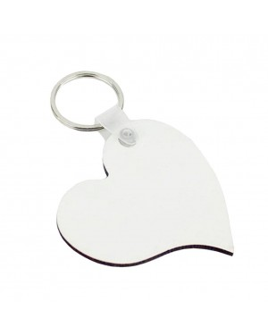 Keyring - 10 x MDF - Double-Sided - Curved Heart