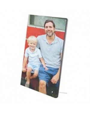 "Photo Frame/ Panel - MDF Photo Panel with Metal Stand - 8"" x 10"""