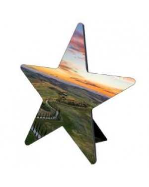 Photo Frame/ Panel - MDF Photo Panel - Star - 12.7cm
