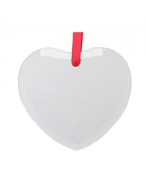 Ornaments - GLASS - 12 x Hanging Ornament - Heart