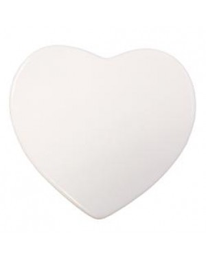 Blank Ceramic Heart Shaped Token for Sublimation