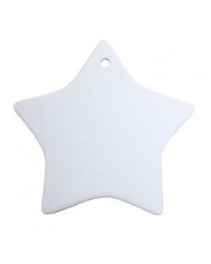 Ornaments - 10 x Ceramic Hanging Ornament - Star