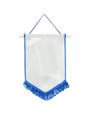 Flags & Banners - Pack of 10 x Pennant - 18cm x 26cm - BLUE