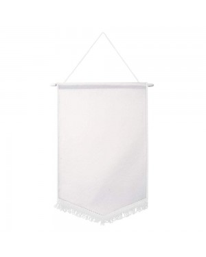 Flags & Banners - Pack of 10 x Pennant - 18cm x 26cm - WHITE