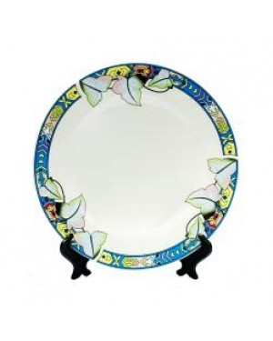 Plates - Ceramic - 7.5'' Plate With Floral Design and Stand